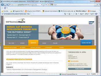 The SAP Butterfly Event